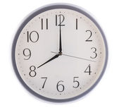Reloj blanco aislado a las ocho — Foto de Stock