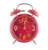 Izole kırmızı saat 12 — Stok fotoğraf