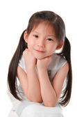 Close up photo of asian girl — Stock Photo