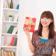 Stock Photo: Beautiful asian woman happy