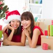 Asian friend lifestyle christmas photo — Stock Photo #14930817