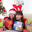 Asian friend lifestyle christmas photo — Stock Photo #14930937