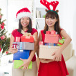 Asian friend lifestyle christmas photo — Stock Photo #14930983