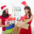 Foto Stock: Asian friend lifestyle christmas photo