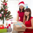 Asian friend lifestyle christmas photo — Stock fotografie