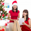 Asian christmas friends — Stock Photo #14931119