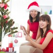 Christmas friends — Stock Photo