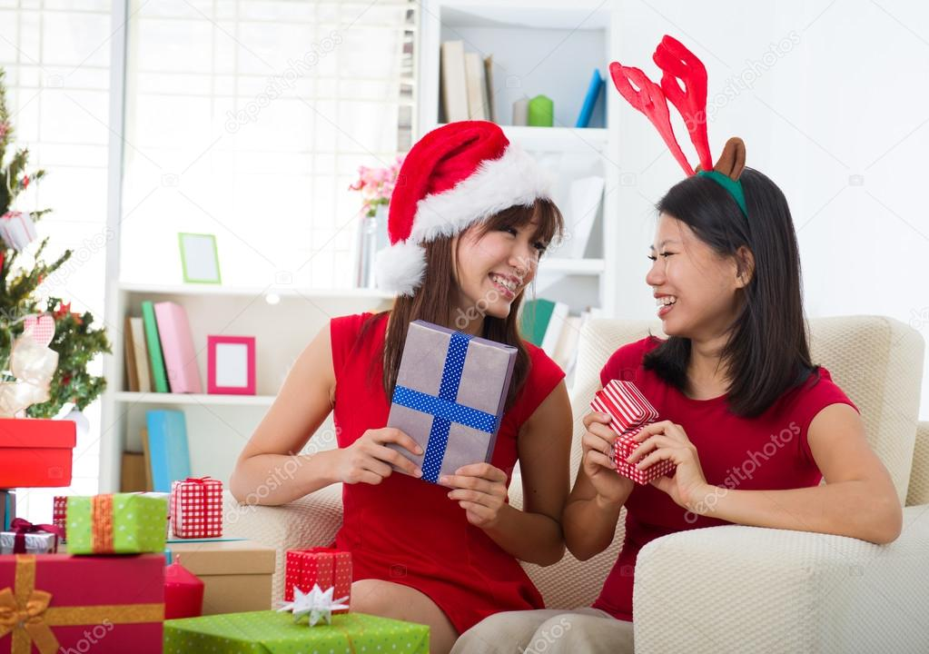 Asian friend lifestyle christmas photo  Stock Photo #14930733