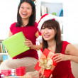 Asian friend lifestyle christmas photo — Stock Photo #16620089