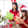 Asian friend lifestyle christmas photo — Stock Photo #16620095