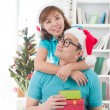 Royalty-Free Stock Photo: Asian couple lifestyle celebration christmas photo