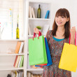 Chinese female shopping — Stock Photo