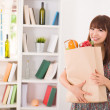 Chinese female shopping - Stock Photo
