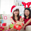 Asian friends christmas celebration , chinese south east asian e — Stock Photo #16893167