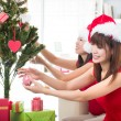 Asian friends christmas celebration , chinese south east asian e — Stock Photo #16893195