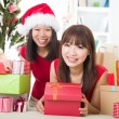 Asian friends christmas celebration , chinese south east asian e — Stock Photo #16893319