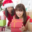 Asian friends christmas celebration , chinese south east asian e — Stock Photo #16893415