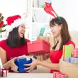 Asian friends christmas celebration , chinese south east asian e — Stock Photo #16893437