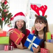 Asian friends christmas celebration , chinese south east asian e — Stock Photo #16893465