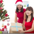 Asian friends christmas celebration , chinese south east asian e — Stock Photo #16893523