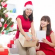 Asian friends christmas celebration , chinese south east asian e — Stock Photo #16893611