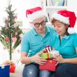 Asia family christmas celebration — Stock Photo #16893627