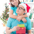 Asia family christmas celebration - Stock Photo