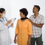 Indian senior medical checkup — Stock Photo