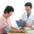 Asian senior female medical checkup — Stock Photo #16894135