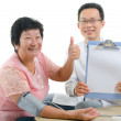 Asian senior female medical checkup — Stock Photo #16894225