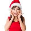 Chinese girl celebrating christmas — Stock Photo #17588509