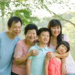 Stock Photo: Asifamily outdoor enjoyment