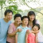 Asian family outdoor enjoyment — Stock Photo #17588681