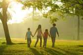 Tempo de família qualidade ao ar livre — Foto Stock