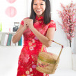 Chinese new year girl — Stock Photo