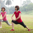 Stock Photo: Asian woman workout outdoor