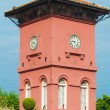 Famous clock tower in melaka, unesco site — Stock Photo
