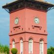 Famous clock tower in melaka, unesco site - Zdjęcie stockowe