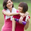 Asian girls after a workout — Stock Photo #18069175