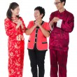 Chinese new year greetings - Stock Photo
