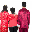 Back of chinese new year family — Stock Photo