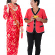 Royalty-Free Stock Photo: Chinese new year mother and daughter