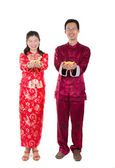 Chinese new year couple — Stock Photo
