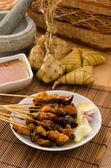 Satay traditional malay foods — Stock Photo