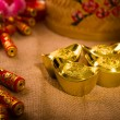 Chinese new year gold bullion — 图库照片