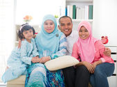 Indonesian malay family having a good time — Stock Photo
