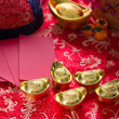 Chinese new year gold bullions — 图库照片