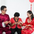 Chinese family celebrating lunar new year — Stock Photo #19681951
