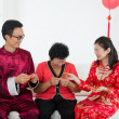 ストック写真: Chinese family celebrating lunar new year
