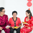 Chinese family celebrating lunar new year — Stock Photo #19681991